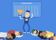 Illustration of someone winning their Fantasy Draft