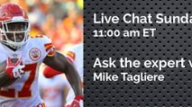 Expert Chat w/ Mike Tagliere (Sun, 10/1) photo