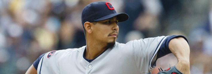 Carlos Carrasco was one strike away from a no-hitter Wednesday
