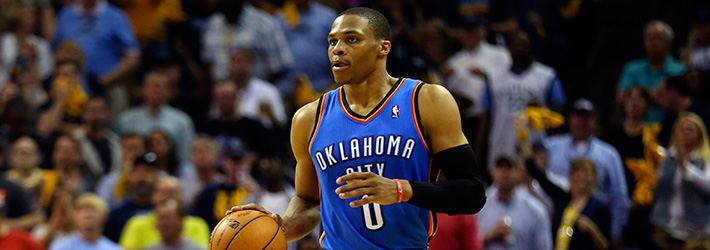 Russell Westbrook does not need a lot of playing time to make a big splash on the stat sheet