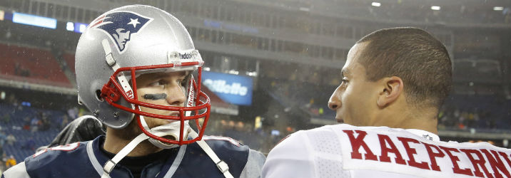 Colin Kaepernick is a good QB to roll with during Tom Brady's suspension.