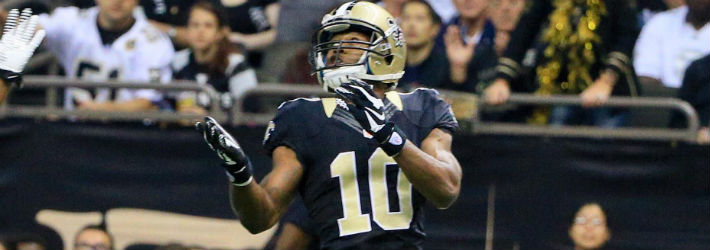 It wouldn't be wise to overlook Drew Brees' deep threat and favorite target, Brandin Cooks (pictured)