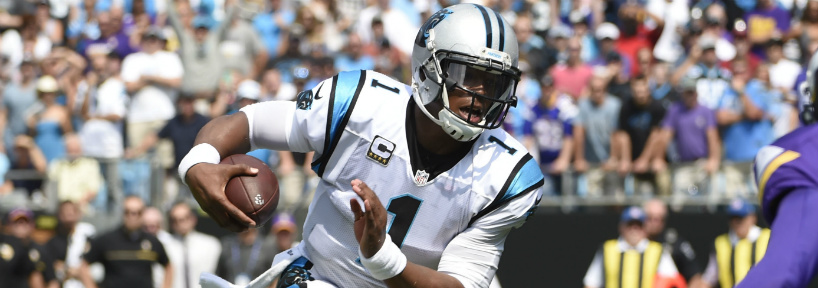 Playing on Monday night in Week 5 gives Cam Newton one more day to recover from his concussion