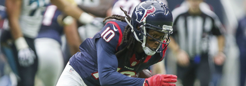 Expect DeAndre Hopkins to be a target machine against the Lions this week