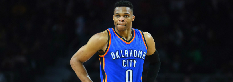 Russell Westbrook showed why he's a hard  player to fade last night, especially on a short slate