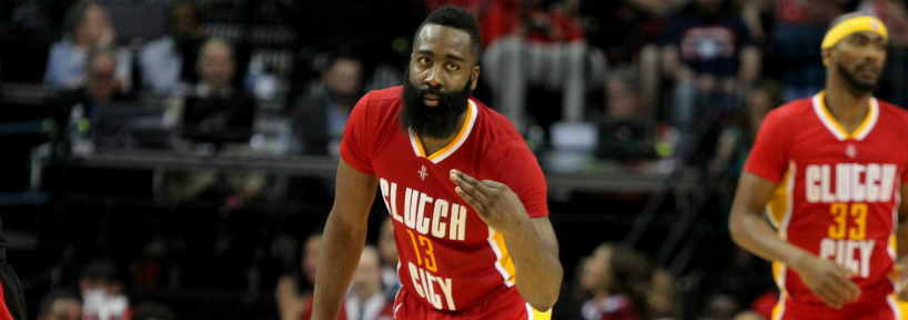 Despite his recent slump, James Harden is hard to fade on tonight's eight-game slate