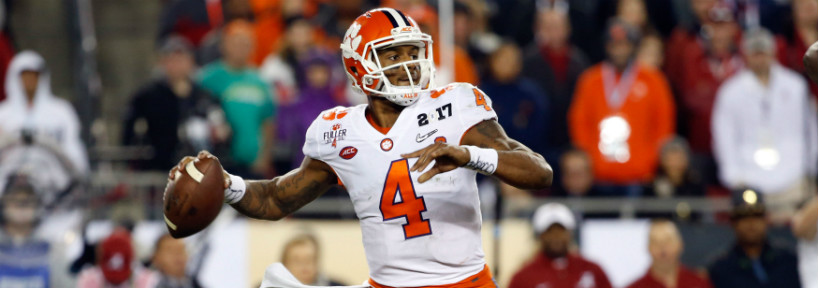 Deshaun Watson was once considered the top quarterback prospect in this year's draft, but he's been sliding a bit as of late.