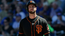 By The Numbers: Brandon Belt, Christian Yelich, Yonder Alonso photo