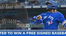 Win a Signed Vladimir Guerrero Jr. Baseball